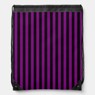 Dünne Streifen - schwarz und lila Sportbeutel