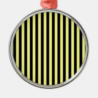 Dünne Streifen - Schwarzes und Gelb Silbernes Ornament