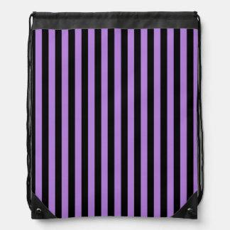 Dünne Streifen - Schwarzes und Lavendel Turnbeutel