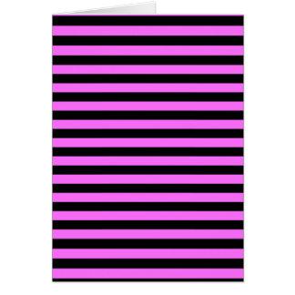 Dünne Streifen - Schwarzes und ultra Rosa Karte