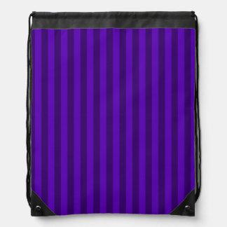 Dünne Streifen - violett und dunkles Veilchen Sportbeutel