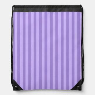 Dünne Streifen - violett und hellviolett Sportbeutel