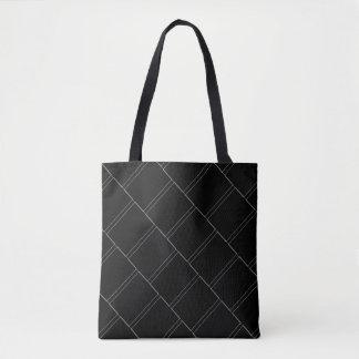 Dünne weiße Rechteck-geometrisches Muster Tasche