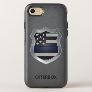 Dünner Blue Line iPhone 7 Fall OtterBox Symmetry iPhone 7 Hülle