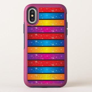 Dünner X Fall des bunten Prisma-Schein-Entwurfs- OtterBox Symmetry iPhone X Hülle