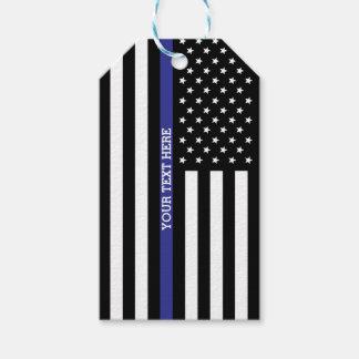 Dünnes Blue Line - amerikanische Flagge Geschenkanhänger