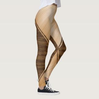 Dünnes Blue Line - hölzerne Einlegearbeit Leggings