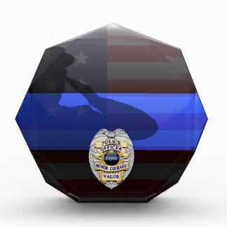 Dünnes Blue Line - Polizei-Jahrestag fertigen es Acryl Auszeichnung