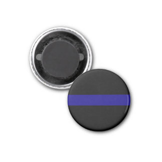 Dünnes Blue Line Runder Magnet 3,2 Cm