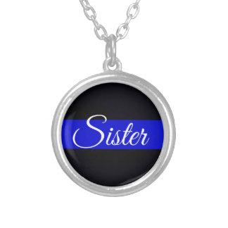 Dünnes Blue Line-Schwester-Silber überzogene Versilberte Kette