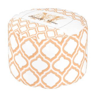 Duo-Ton marokkanisches Gitter (orange) Hocker