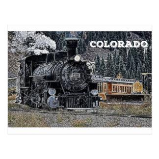 Durango 1881 u. Silvertown Schmalspur-Eisenbahn Postkarte