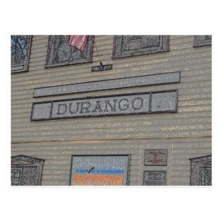 Durango-Bahnstation Postkarte