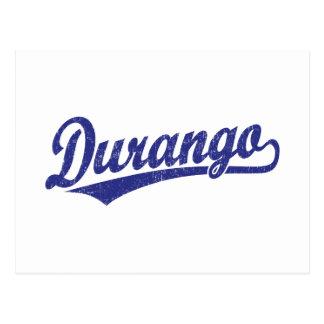 Durango-Skriptlogo im Blau Postkarte