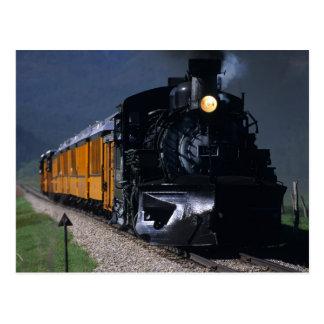 Durango u. Silverton Dampf-Zug Postkarte