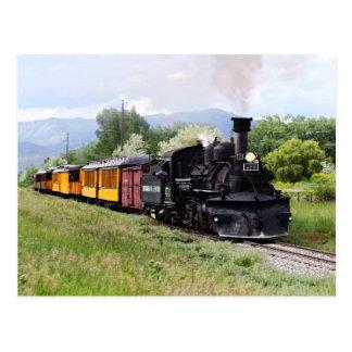 Durango u. Silverton Eisenbahn-Ingenieur-Karo-Bahn Postkarte