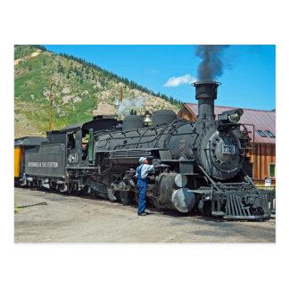 Durango- u. Silvertondampflokomotive 480 Postkarte