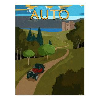 Durch Auto Postkarte