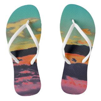 """""""Durch das Meer"""" Strand-Sandalen Flip Flops"""