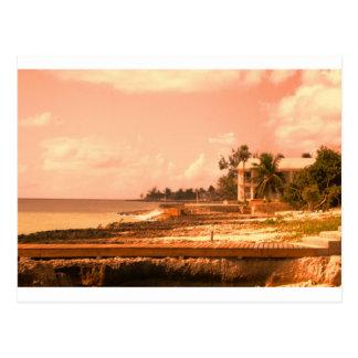 Durch den Ozean (Pfirsich-Ton) Postkarte