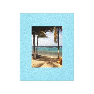 Durch den Strand Gespannter Galerie Druck
