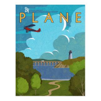 Durch Flugzeug Postkarte