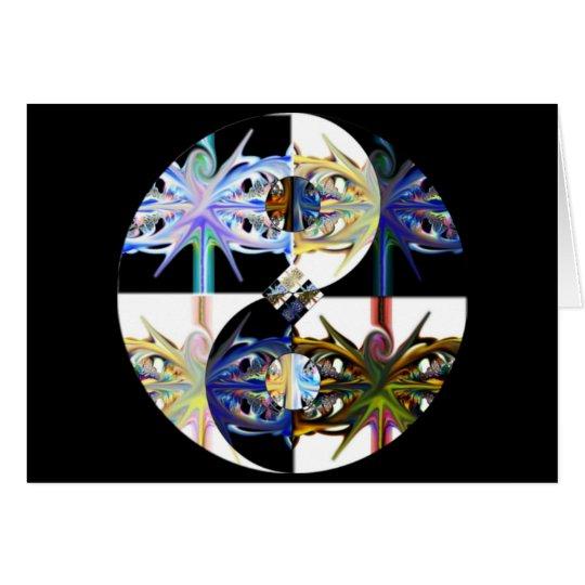 durch und durch ~ yin Yang-Fraktalkunstkarte Mitteilungskarte