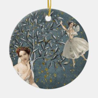 Durchdachte Feen Keramik Ornament