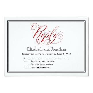 Durchdachte rote und weiße 8,9 x 12,7 cm einladungskarte