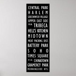 Durchfahrt-Rolle-Plakat New York Vintages Poster