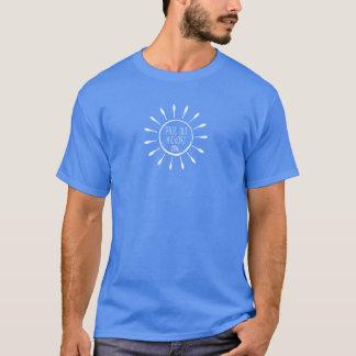 Durchlauf-heraus Hickory-T - Shirt (weiße Tinte)