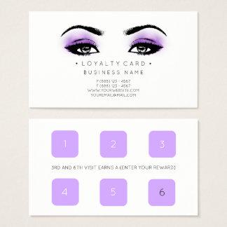 Durchschlags-Kunden-Schönheits-Salon-Make-up der Visitenkarte