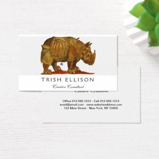 Durers Nashorn Visitenkarte