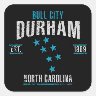 Durham Quadratischer Aufkleber