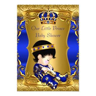 Duschen-blaues Goldbrünetter Baby-Junge Prinz-Baby Karte