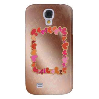 Duschen-Herz-Girlande auf goldener Servierplatte Galaxy S4 Hülle