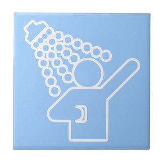 Duschen-Symbol Kleine Quadratische Fliese