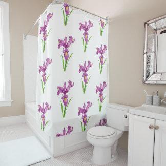 Duschvorhang-lila Iris-BlumenBlumen-Kunst Duschvorhang