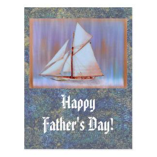 Düstere Vatertagsgewohnheit Segel- Postkarten