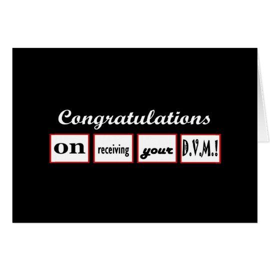 DVM Grad - INDIVIDUELLER NAME Glückwünsche - Grußkarte
