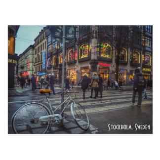 Dynamisches streetview von Stockholm, Schweden Postkarte