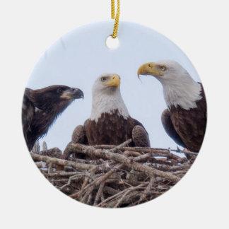 E9 u. Familien-Feiertags-Verzierung Rundes Keramik Ornament