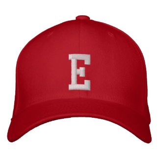 E-Buchstabe Bestickte Mütze