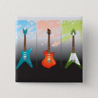 E-Gitarren-Liebhaber-Traum Quadratischer Button 5,1 Cm