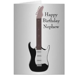 E-Gitarren-Neffe-Geburtstag Karte