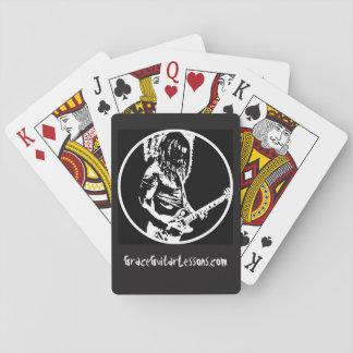 E-Gitarren-Spieler-Karten Spielkarten