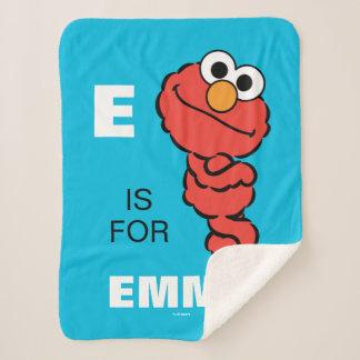 E ist für Elmo, den   Ihren Namen addieren Sherpadecke