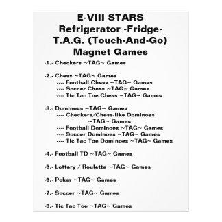 E-VIII TIENT LE PREMIER RÔLE des jeux d'aimant de Prospectus 21,6 Cm X 24,94 Cm