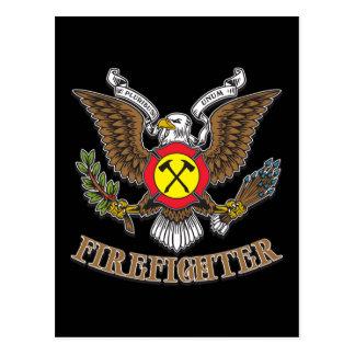 Eagle-Feuerwehrmann Postkarte