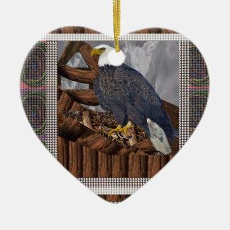 EAGLE König des Raubvogels Keramik Herz-Ornament